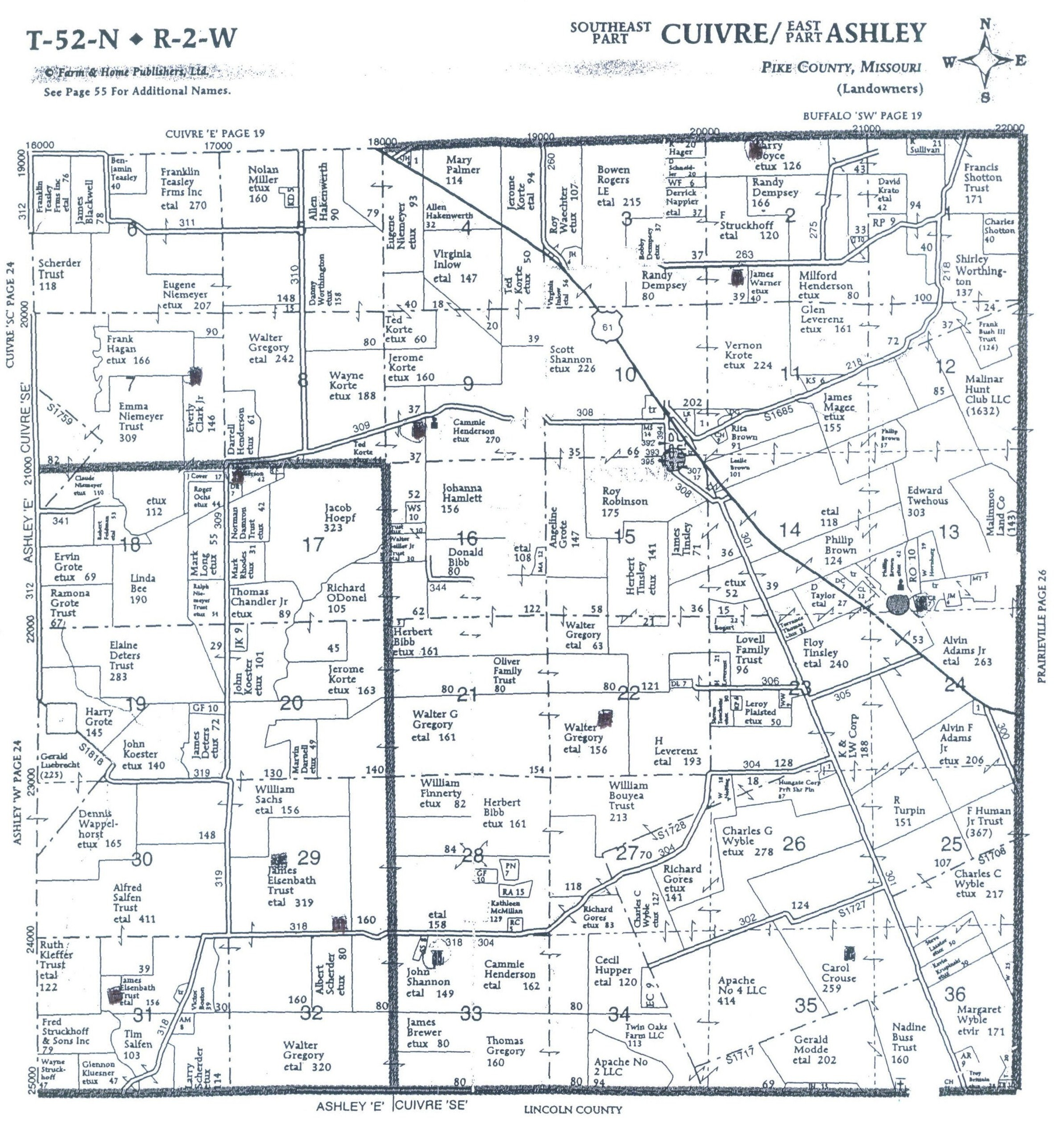 Pike County Cemeteries AL - Map of us 61